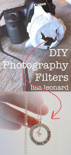 DIY ideas to create photography filters Partially covering the lens of your camera can create some magical and fun results. Check this out!