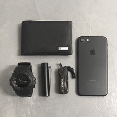 Basic Light Carry Setup Submitted byJojie Atomick Victoinox Leather Slim Wallet Casio G-Shock Black Watch Clipper Lighter Black Edition Gerber Dime Multitool Apple iPhone 7 Black