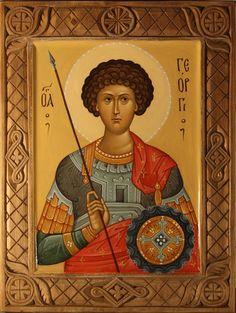 Church Interior, Byzantine Art, Orthodox Christianity, Religious Icons, Saint George, Saints, Artwork, Painting, Christianity