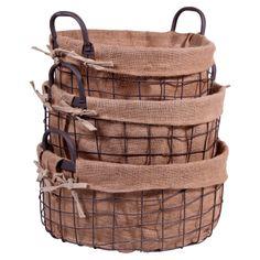 3 Piece Addison Round Basket Set