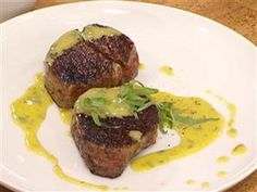 Bobby Flay's low-calorie meals: Filet mignon and Bearnaise sauce