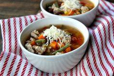 Turkey Vegetable Soup recipe from RecipeGirl.com