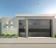 Best 12 Reggie' s modern wall – SkillOfKing.Com – SkillOfKing. Gate Wall Design, House Fence Design, House Main Gates Design, Small House Design, Modern House Design, Modern House Floor Plans, Modern House Facades, House Plans, Home Room Design