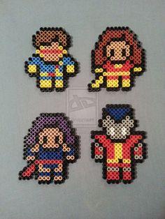 X-Men Perler Bead Figures (Cyclops, Phoenix, Psylocke, Colossus) by AshMoonDesigns  https://www.etsy.com/shop/AshMoonDesigns