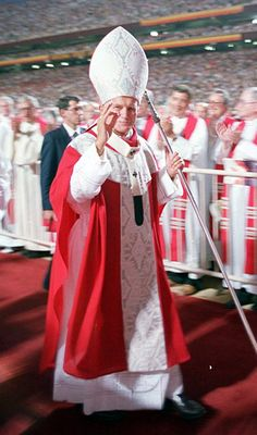 On September I had the privilege to attend the Papal Mass of Pope John Paul II at Sun Devil Stadium along with my Mom and cousin. Catholic Memes, Catholic Religion, Catholic Saints, Roman Catholic, Illuminati, Anima Christi, Papa Juan Pablo Ii, Black Ops, Pope John Paul Ii
