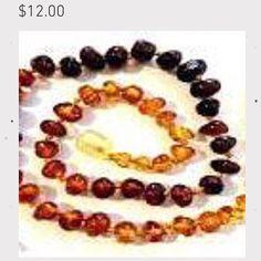 #Baby #amber #teething neclaces $12 (collares de #ambar para la #dentición de los bebés) http://www.lactedbaby.com/#!product-page/c1jdt/ab1f28e8-32c4-7379-c1f5-750a3ba8b263