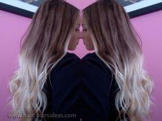 blonde-ombre-hair-color, dip dye hair