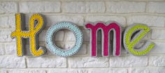 Handcraft handmade home letters ecie-plecie. Aqua yellow grey green design room. https://www.facebook.com/ecieplecie