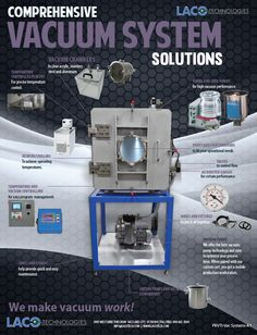 #LACO is one of the leading #manufacturers of vacuum process #technology. During that time we have provided vacuum process solutions in all areas of industry. Some of our system applications include altitude and space simulation, package testing, degassing, potting, brazing and joining, #vacuum bake-out and drying, research and instrumentation and product testing. http://www.lacotech.com/vacuumtechnologysolutions