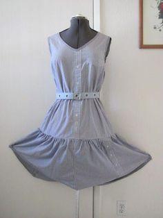 DIY Clothes DIY Refashion   DIY Sun dress made from 3 mens shirts