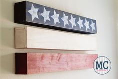 DIY Contemporary American Flag Art