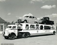 trucks on a car carrier Towing Auto Transporter Insurance… Cool Trucks, Big Trucks, Cool Cars, Semi Trucks, Classic Trucks, Classic Cars, Pick Up, Car Carrier, Cab Over