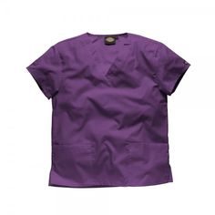 Iris Dickies Scrubs Unisex Top. The Dickies Unisex Scrub top offers a generous fit, making it super comfy to wear. The neckline is a flattering v-neck and there are two roomy pockets at the front of the scrub top for all your belongings. £17  #nursescrubs #dentistuniform #nurses #dentists #purplescrubs