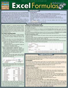 Excel 2013 Formulas - Advanced (9781423222903) - BarCharts Publishing Microsoft Excel, Microsoft Office, Excel Tips, Excel Hacks, Computer Help, Computer Programming, Computer Tips, Computer Engineering, Computer Science