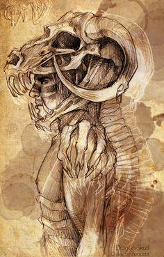 Dragon Skull by LiuAnQi