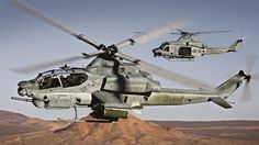 AH-1Z and UH-1Y Bell Helicopter