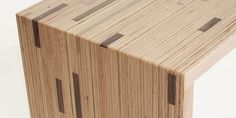 detail of scrap table by Modern Vermont. Fir plywood scraps, walnut & cherry hardwood scraps, finished with Vermont Natural Coatings Plywood Table, Hardwood Plywood, Baltic Birch Plywood, Plywood Furniture, Furniture Design, Cad Cam, Reclaimed Wood Projects, Building Plans, Bamboo Cutting Board