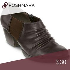 """Yuu Marry Slip On Bootie Versatile and fashionable, with ruched detailing on a convenient slip-on design, our medium heel booties will keep your style fresh year round. synthetic upper 2"""" heel rubber sole jcpenney Shoes"""