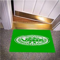 VANS LOGO GREEN BEDROOM CARPET BATH OR DOORMATS