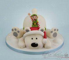 Polar bear cake. Christmas. Cakesdecor.com