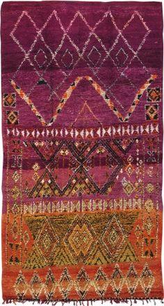 Vintage Moroccan Rug High Atlas Collection Tribal
