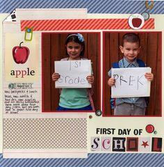 First Day of School - Scrapbook.com
