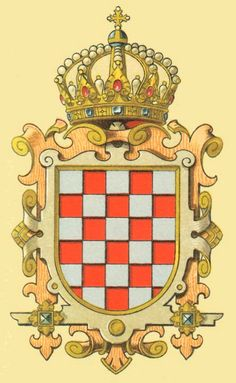 coat of arms kingdom of croatia Eslava, Croatian Tattoo, Asian History, British History, Chivalry, Family Crest, Crests, Monogram Letters, Coat Of Arms