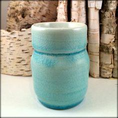 Aqua Laguna Crackle Porcelain Ceramic Vase by FormAndFire on Etsy