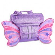 Sparkalicious Glitter Small Kids Backpack Butterflyer Purple