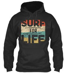 Surf For Life Jet Black Sweatshirt Front