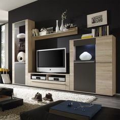 designers wall units - Căutare Google Media Wall, Wall Units, Tv Units, Autocad, House Design, How To Plan, Bedroom, Tvs, Arch