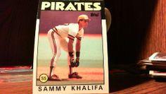 TOPPS 1986 BASEBALL CARD SAMMY KHALIFA CARD#316 PIRATES.