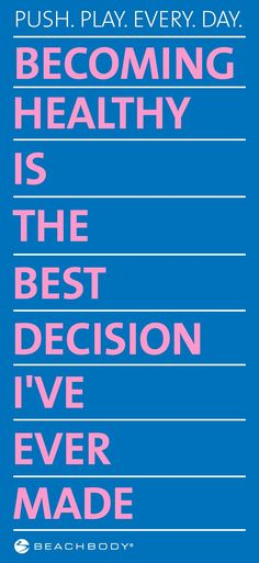 Make a decision that's right for you! Come see me on facebook, I can help! https://m.facebook.com/LisaDillonBalancingFitnessAndFamily #motivation #pushplay