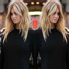 - New Site - Trendy Hair Highlights: cut sweet! – New Site Trendy Hair Highlights: cut sweet! Balayage Brunette, Balayage Hair, Brunette Bangs, Brunette Fringe, Blonde Hair With Bangs, Blonde Hair Blue Eyes, Summer Hairstyles, Pretty Hairstyles, Cut Hairstyles