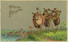 Whitsuntide beetle postcard 1910 | anthropomorphic INSECTS ...