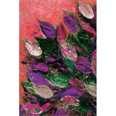"""East Urban Home Blooming Beautiful VI Painting Print on Wrapped Canvas Size: 26"""" H x 18"""" W x 0.75"""" D"""