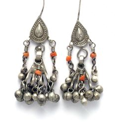 Afghanistan Silver Earrings - World Folk Art - Find Stained Gourds, Metal Wall Hangings, and more