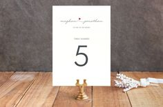 Love Connection Table Numbers by  at minted.com