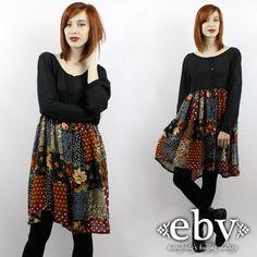 #Vintage #90s #Grunge #Patchwork Mini #Dress, fits up to 1X/maybe 2X by #shopEBV http://etsy.me/17IBunj @Etsy #etsy #style #fashion #hippie, $58.00