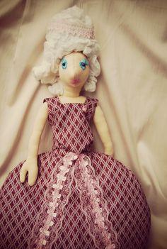 Raglady - hairdresser and dress up dolls by Rongylady Madame Pompadour, Dress Up Dolls, Marie Antoinette, Hairdresser, Charlotte, Textiles, Etsy Shop, Summer Dresses, Trending Outfits