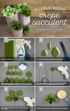 Succ It Up! ✨ Anyone can craft these double-sided crepe paper succulents! They require zero water and are super simple to make. Learn how to craft your own here https://liagriffith.com/crepe-paper-succulent-plants/ * * * #succulent #succulentgarden #succulents #paper #papercut #papercraft #papercrafts #paperlove #paperart #crepepaper #crepepaperrevival #crepepaperflower #crepepaperflowers #paperflower #paperflowers #diy #diycraft #diycrafts #diyidea #diyideas #diyproject #diyprojects…