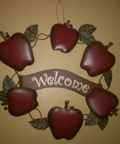 Apple Kitchen Decor Welcome Wreath