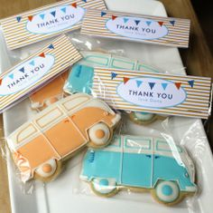 VW Bus Cookies by Kate's Cookies, with a Style Me Gorgeous bag topper