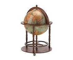 Globo rotante da terra in legno Dalin - d 60/h 91 cm