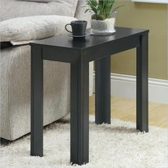 "$60.98 on sale from $129.00 Only about 12"" wide, but maybe this style in a bit wider table.  Lowest price online on all Monarch Accent End Table in Black Oak - I 3110"
