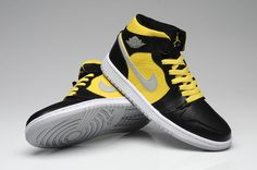 Air Jordan 1 AJ1 Jordan 1 Running Shoes AJ1 High Shoes Men Shoes Black Yellow|only US$65.00 - follow me to pick up couopons.