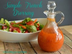 Simple French Dressing | 18 Homemade Salad Dressing Recipes | https://homemaderecipes.com/18-homemade-salad-dressing-recipes/