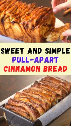 Cinnamon Pull Apart Bread, Cinnamon Bread, Cinnamon Rolls, Breakfast Dishes, Breakfast Recipes, Brunch Recipes, Dinner Recipes, Good Food, Yummy Food