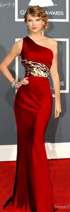 I'm not a taylor swift fan perse, but i am IN LOVE with this red and animal print... simple, classy stunning!