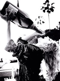 That's what we need tonight! A magnum bottle of champagne to start the night!